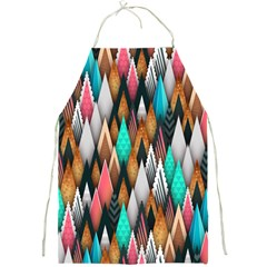 Background Pattern Abstract Triangle Full Print Aprons
