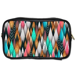 Background Pattern Abstract Triangle Toiletries Bags 2-Side