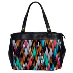 Background Pattern Abstract Triangle Office Handbags