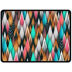 Background Pattern Abstract Triangle Fleece Blanket (Large)