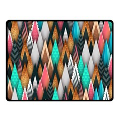 Background Pattern Abstract Triangle Fleece Blanket (Small)