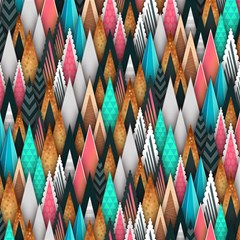 Background Pattern Abstract Triangle Magic Photo Cubes