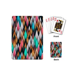 Background Pattern Abstract Triangle Playing Cards (Mini)