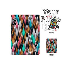 Background Pattern Abstract Triangle Playing Cards 54 (Mini)