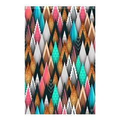 Background Pattern Abstract Triangle Shower Curtain 48  x 72  (Small)