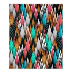 Background Pattern Abstract Triangle Shower Curtain 60  x 72  (Medium)