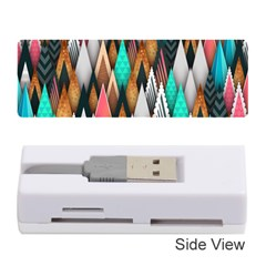 Background Pattern Abstract Triangle Memory Card Reader (Stick)