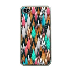 Background Pattern Abstract Triangle Apple iPhone 4 Case (Clear)