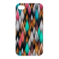 Background Pattern Abstract Triangle Apple iPhone 4/4S Premium Hardshell Case