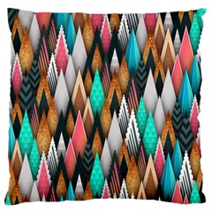 Background Pattern Abstract Triangle Large Cushion Case (Two Sides)