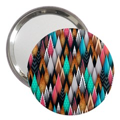 Background Pattern Abstract Triangle 3  Handbag Mirrors