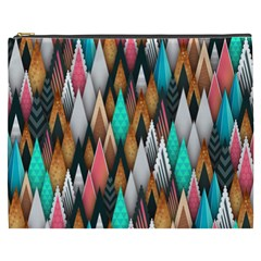 Background Pattern Abstract Triangle Cosmetic Bag (XXXL)