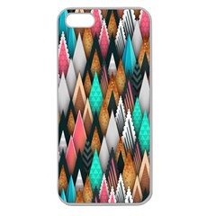 Background Pattern Abstract Triangle Apple Seamless iPhone 5 Case (Clear)