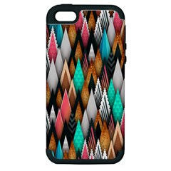 Background Pattern Abstract Triangle Apple iPhone 5 Hardshell Case (PC+Silicone)