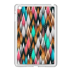Background Pattern Abstract Triangle Apple iPad Mini Case (White)