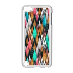 Background Pattern Abstract Triangle Apple iPod Touch 5 Case (White)
