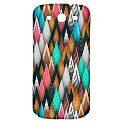 Background Pattern Abstract Triangle Samsung Galaxy S3 S III Classic Hardshell Back Case