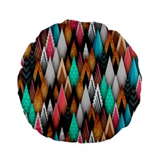 Background Pattern Abstract Triangle Standard 15  Premium Round Cushions