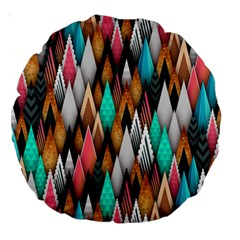 Background Pattern Abstract Triangle Large 18  Premium Round Cushions
