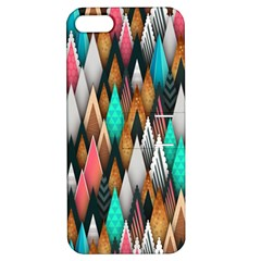 Background Pattern Abstract Triangle Apple iPhone 5 Hardshell Case with Stand