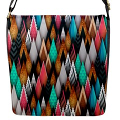 Background Pattern Abstract Triangle Flap Messenger Bag (S)