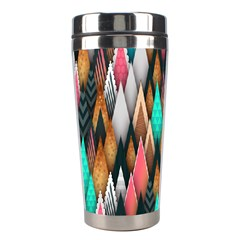 Background Pattern Abstract Triangle Stainless Steel Travel Tumblers