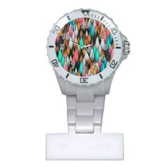 Background Pattern Abstract Triangle Plastic Nurses Watch