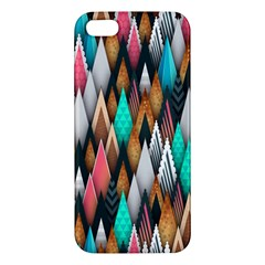 Background Pattern Abstract Triangle iPhone 5S/ SE Premium Hardshell Case