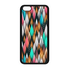 Background Pattern Abstract Triangle Apple iPhone 5C Seamless Case (Black)