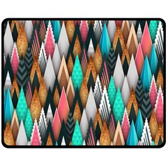 Background Pattern Abstract Triangle Double Sided Fleece Blanket (Medium)
