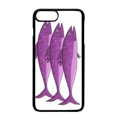 Mackerel   Magenta Apple Iphone 7 Plus Seamless Case (black)