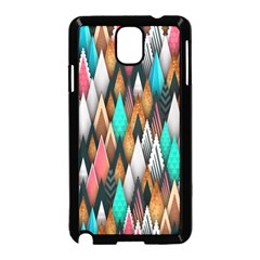 Background Pattern Abstract Triangle Samsung Galaxy Note 3 Neo Hardshell Case (Black)