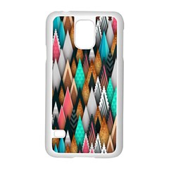 Background Pattern Abstract Triangle Samsung Galaxy S5 Case (White)