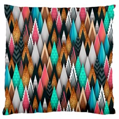 Background Pattern Abstract Triangle Standard Flano Cushion Case (One Side)