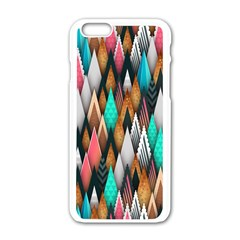 Background Pattern Abstract Triangle Apple iPhone 6/6S White Enamel Case