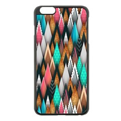 Background Pattern Abstract Triangle Apple iPhone 6 Plus/6S Plus Black Enamel Case