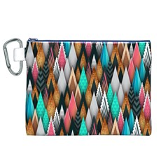 Background Pattern Abstract Triangle Canvas Cosmetic Bag (XL)
