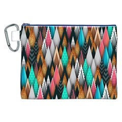 Background Pattern Abstract Triangle Canvas Cosmetic Bag (XXL)