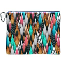 Background Pattern Abstract Triangle Canvas Cosmetic Bag (XXXL)