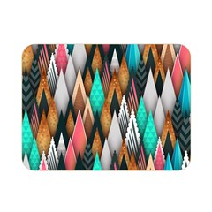 Background Pattern Abstract Triangle Double Sided Flano Blanket (Mini)