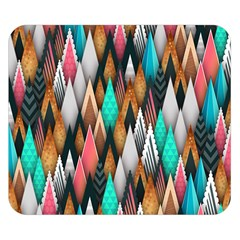 Background Pattern Abstract Triangle Double Sided Flano Blanket (Small)