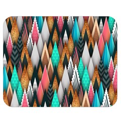 Background Pattern Abstract Triangle Double Sided Flano Blanket (Medium)