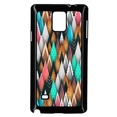 Background Pattern Abstract Triangle Samsung Galaxy Note 4 Case (Black)