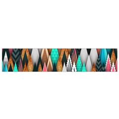 Background Pattern Abstract Triangle Flano Scarf (Small)