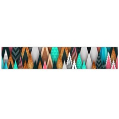 Background Pattern Abstract Triangle Flano Scarf (Large)