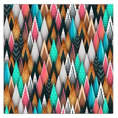 Background Pattern Abstract Triangle Large Satin Scarf (Square)
