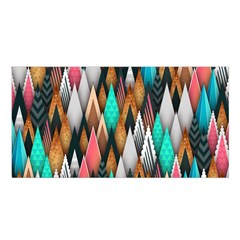 Background Pattern Abstract Triangle Satin Shawl