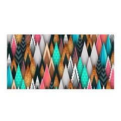 Background Pattern Abstract Triangle Satin Wrap
