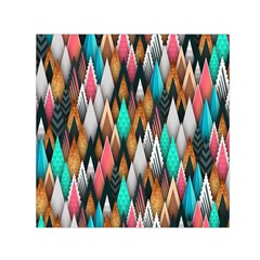 Background Pattern Abstract Triangle Small Satin Scarf (Square)