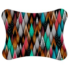 Background Pattern Abstract Triangle Jigsaw Puzzle Photo Stand (Bow)